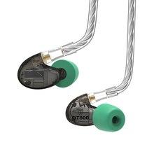2018 NICEHCK DT500 5BA unidad en el auricular del oído 5 armadura equilibrada desmontable separar MMCX Cable HIFI Monitor de deportes auriculares