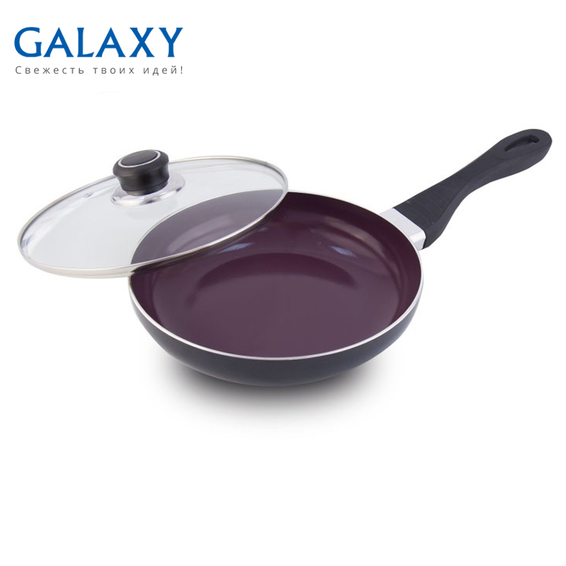 Frying pan with lid Galaxy GL 9815 сковорода galaxy gl 9815