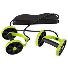 Двойной колёса ролик для пресса тянуть веревку талии брюшной оборудование для похудения оборудование для тренировки мышц дома фитнес
