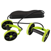 Double Wheels Ab Roller Pull Rope Waist Abdominal font b Slimming b font Equipment Muscle Exercise