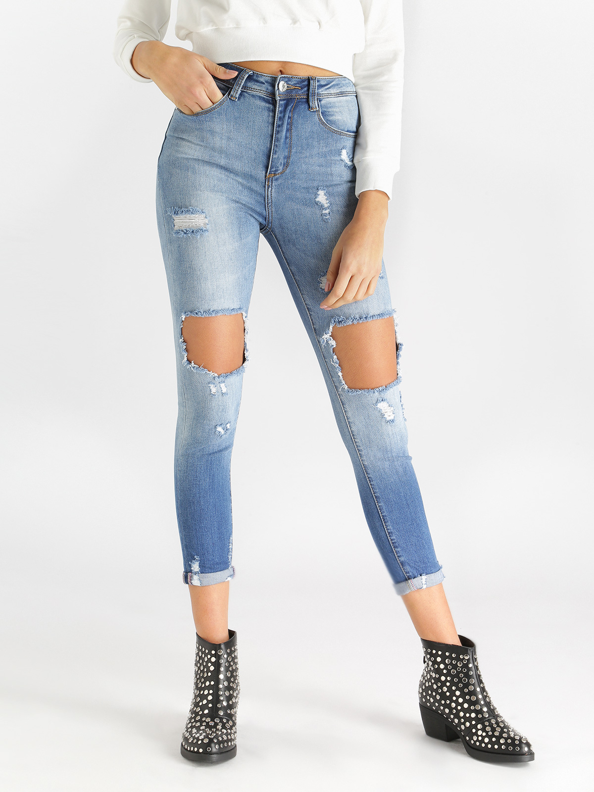Skinny Jeans Ripped