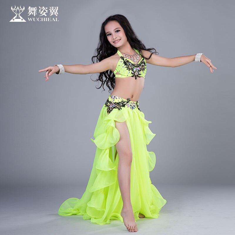 348b57c9af81 Fashion Rhinestone Satin Sexy Belly dance bra Placketing Skirt 2pcs ...