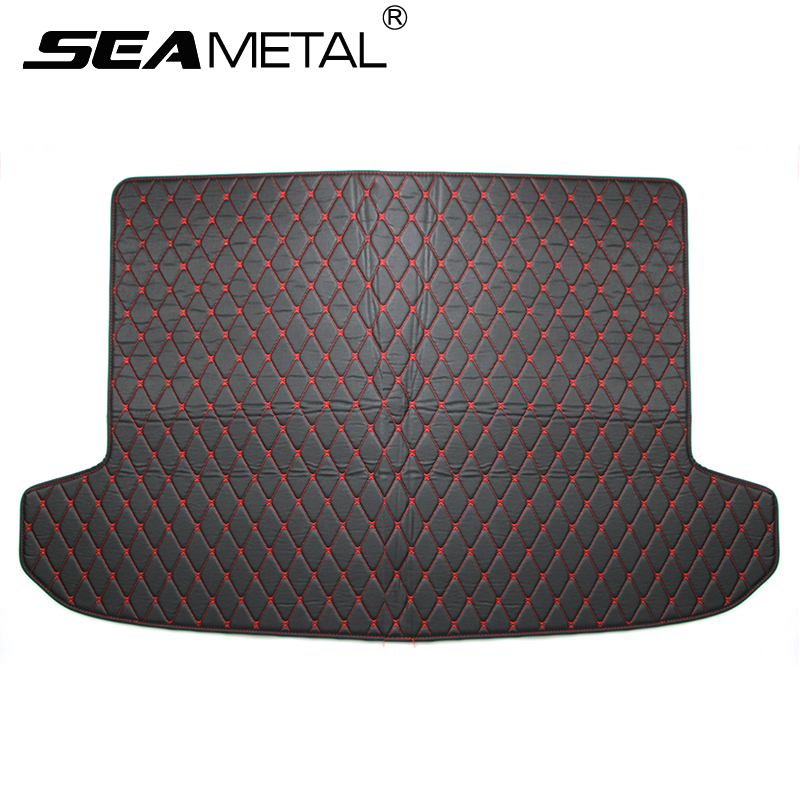 For KIA Sportage QL 2016 2017 Car Cargo Liner Rear Trunk Mat Custom Leather Auto Rugs Floor Mats Interior Carpet Pad Accessories fit for kia rio 2011 2017 boot liner rear trunk cargo mat floor tray carpet mud cover protector 3d car styling carpet rugs