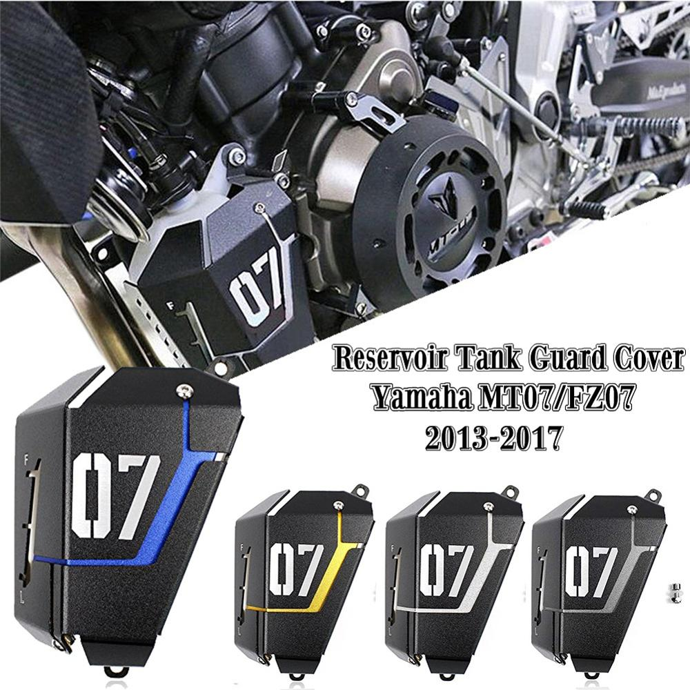 Motorcycle Radiator Water Coolant Reservoir Guard Tank Cover For Yamaha FZ07 MT07 FZ MT 07 FZ-07 MT-07 2017 2016 2015 2014 2013