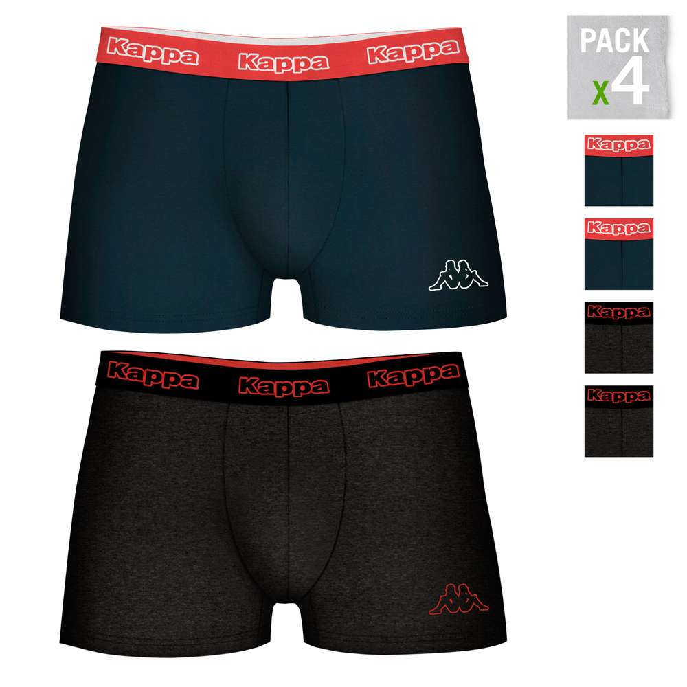 KAPPA Boxers Type Boxer Pack 4 Units In Color Blue And Brown For Men