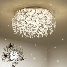 LED nowoczesne kryształowe lampy sufitowe Nordic salon oprawy nowość sypialnia lampy sufitowe żelaza szkło oświetlenie sufitowe