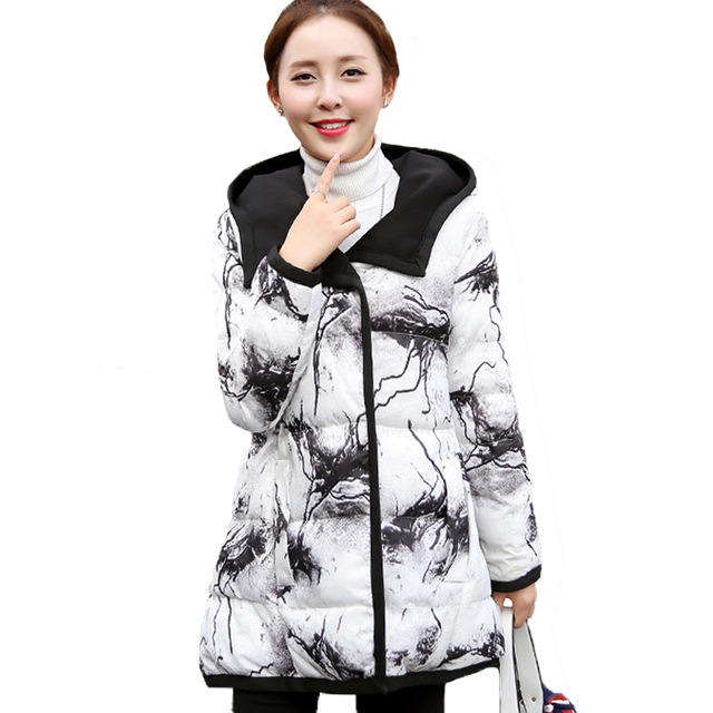 Hiver Veste Hiver Et Automne Parkas Blanc Et Noir Positive Et Négative Vestes D'hiver Outwear Femmes