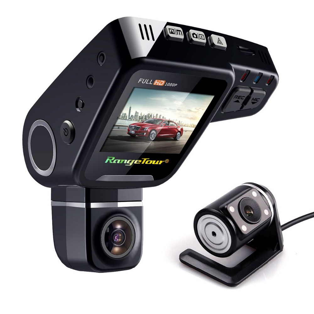 Dual Lens Car DVR Dashboard Vehicle Mini Camera C10s Plus Full HD 1080P 2.0 Inch LCD 170 Degree G-Sensor Video Recorder Dash Cam