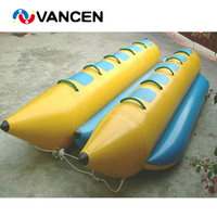 Giant commercial inflatable water park game 10 seats durable PVC inflatable water banana boat for rental