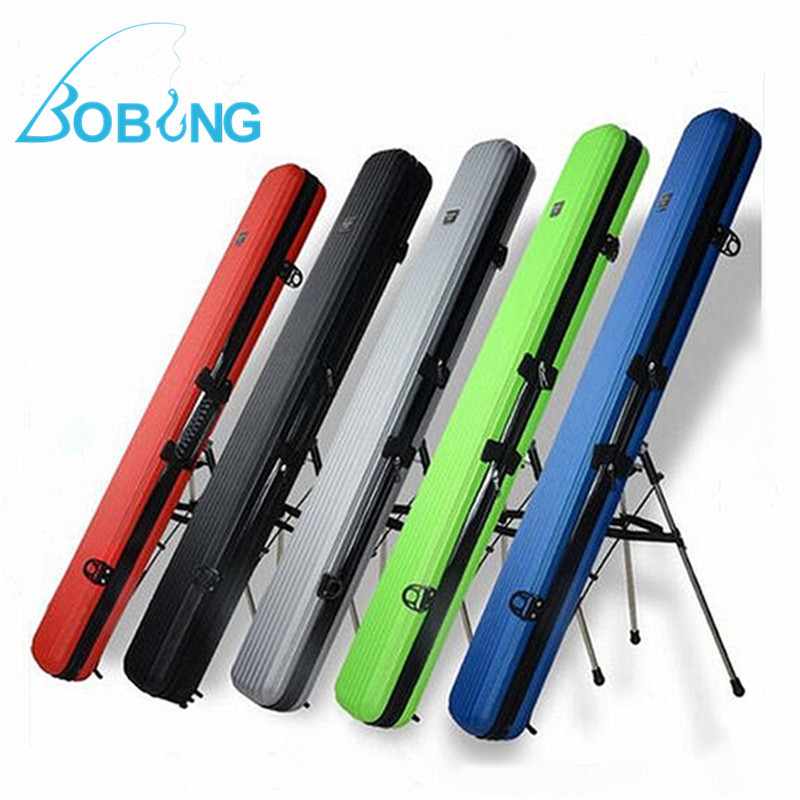 Bobing 125cm Removable Fishing Rod Stick Tackle Hard ABS Case Bag Carry Holder Luggage Organzier Box Storage Lure Baits Case Box portable 2 layers many compartments visible pvc fishing lure bait hooks fish tackle box accessory storage box case fishing tool