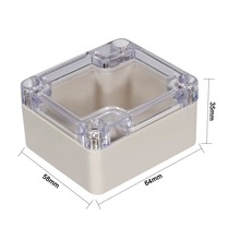 Uxcell 1pcs 64x58x35/83x58x33/100x68x40/100x68x50mm Wateproof Electronic ABS Junction Box Enclosure with Clear Cover for DIY
