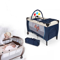 Crib Bedding Travel cot Child portable bed outdoor Multi function travel portable baby Bad folding babies small game bed HWC