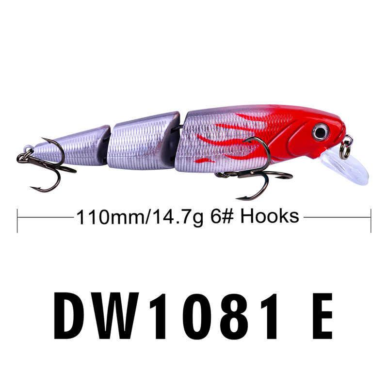 110 มม./14.7G ส่วน 3D Bionic เหยื่อ Hard เหยื่อตกปลาประดิษฐ์เหยื่อตกปลาที่มีสีสันเหยื่อ