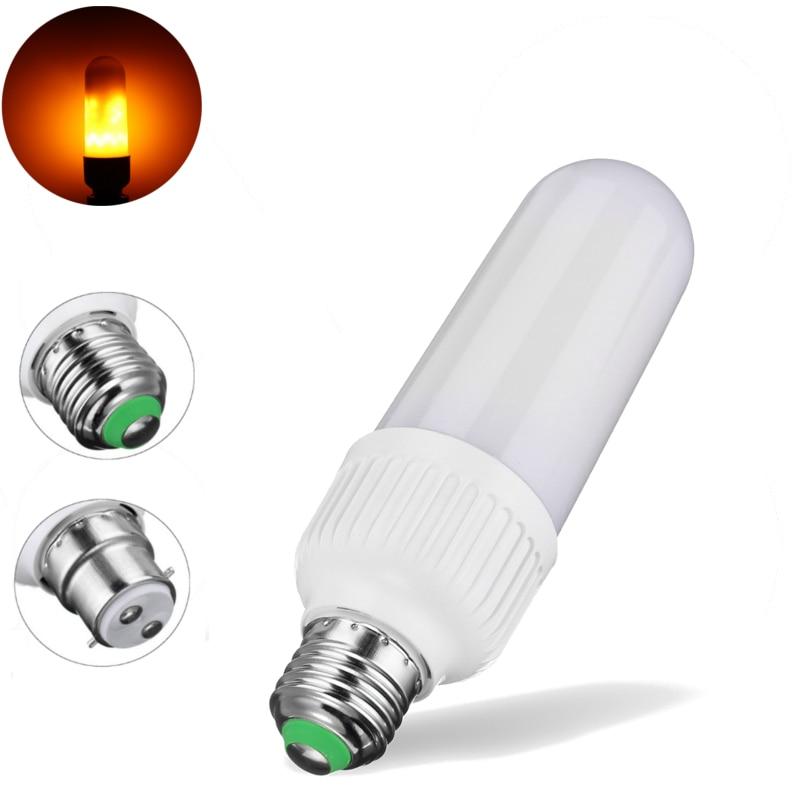 Lowest Price LED Lamp Bulb E27 B22 1800K Yellow Flickering Flame Fire 5W 2835 SMD 99 LED Light Bulb Corn Light Bulb AC85-265V best price home halloween decor 2835 smd 99 led lamp bulb e27 b22 6w three modes 1300k 1800k yellow flame led light bulb 85 265v