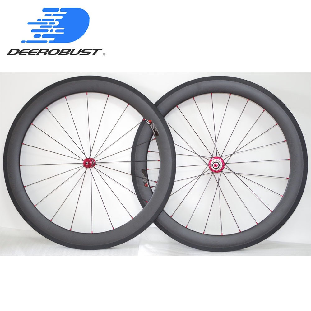 Straight Pull 700c 60mm Deep 23mm Wide Clincher Road Bike Carbon Wheels Bicycle Wheelset Powerway R36 hubs 20 24 Holes 3K Matte