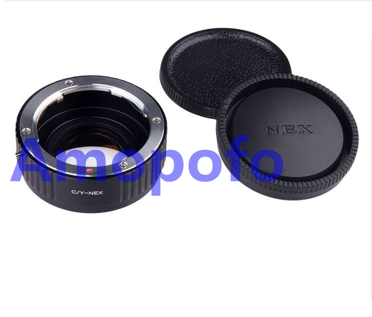 цена на Amopofo CY-NEX Focal Reducer Speed Booster Adapter for Contax Yashica CY mount Lens to for Sony NEX E A6000 A5000