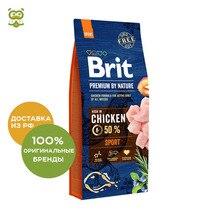 Корм Brit Premium by Nature Sport для активных собак всех пород, Курица, 15 кг