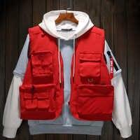 Automne marque de haute qualité gilets militaires tactiques gilets de chasse Multi poche gilets directeur volontaire uniforme Yelek Erkekler