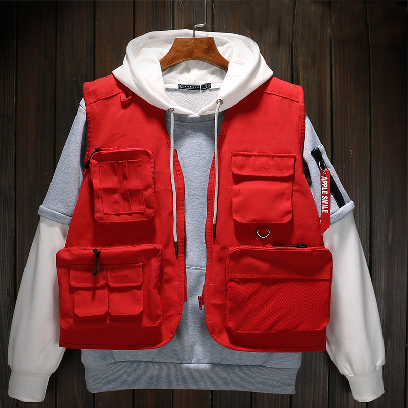 Autumn High Quality Brand Vests Military Tactical Vests Hunting Multi Pocket Vests Director Volunteer Uniform Yelek Erkekler