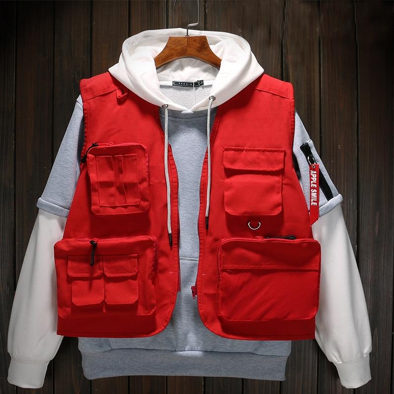 Autumn High Quality Brand Vests Military Tactical Vests Hunting Multi Pocket Vests Director Volunteer Uniform Yelek Erkekler