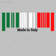 9x25cm Made in Italy Flag Bar Code Car funny Sticker PVC Decal Styling For Ferrari Abarth Lamborghini Maserati Alfa Romeo Pagani