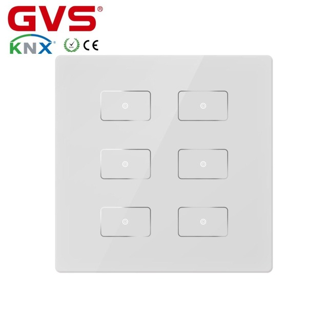 Smart Home Automation Knx Eib Gvs K Bus Capacitive 6 Button Push