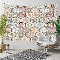 Anderes Braun Blau Ottomane Vintage Hexagon Patchwork 3D Druck Dekorative Hippi Böhmischen Wand Hängen Landschaft Wandteppich Kunst|Dekorative Wandteppiche|Heim und Garten -