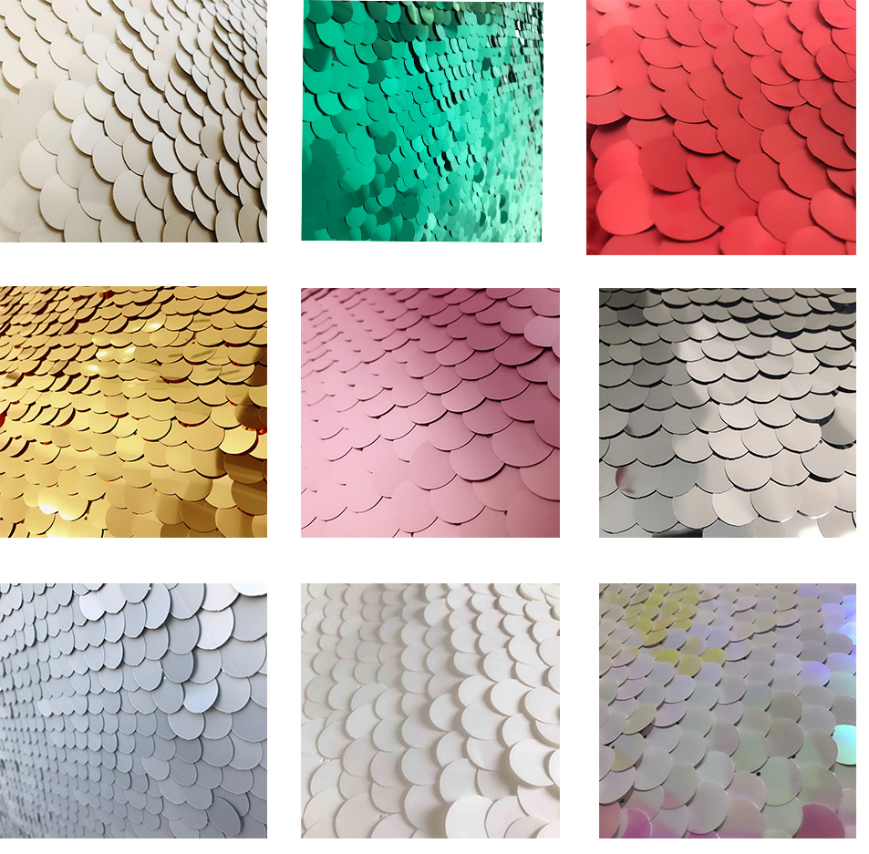 Hot popular no seam 8ft 18mm large sequin photo booth backdrop wedding party use background