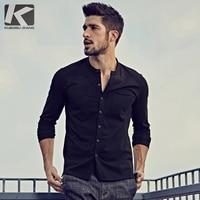 KUEGOU Brand Menswear NEW Autumn Long Sleeve Mens T Shirt Casual Homme Fashion Mens Tshirt 765