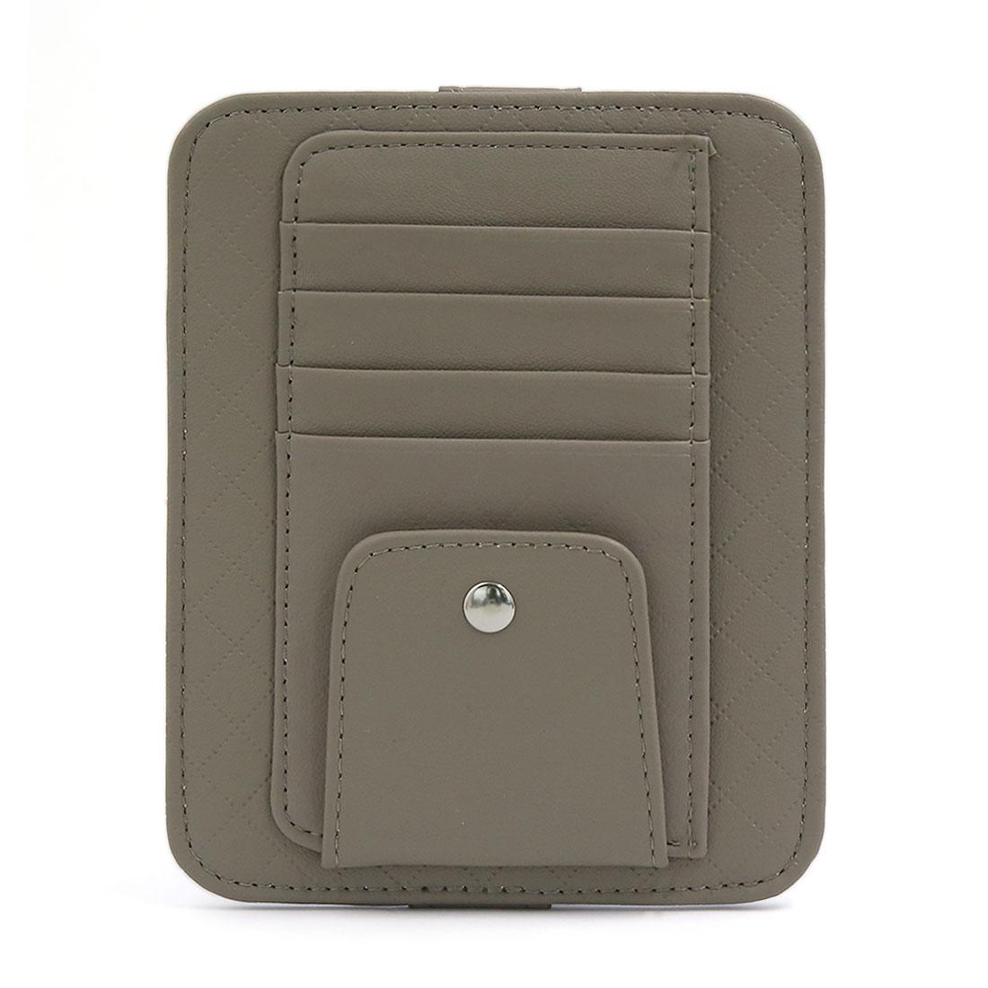 X autohaux gray faux leather car sun visor organizer business card x autohaux gray faux leather car sun visor organizer business card storage case auto sunglass holder colourmoves