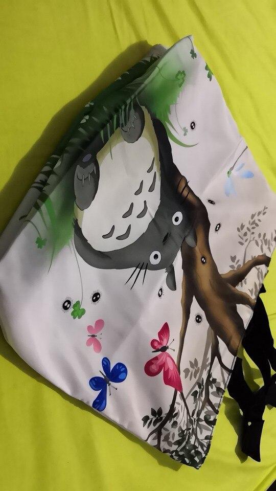 Cute Soft Foldable Women's Shopping Bag Shoulder Carry Bag Lady Handbag Pouch Zipper Closure Pocket Eco Reusable Beach Bag photo review
