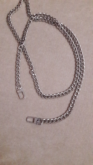 Nieuwe mode handtas ketting riem chic 100cm / 120cm lengte platte metalen tas riemen decoratie tassen accessoires photo review