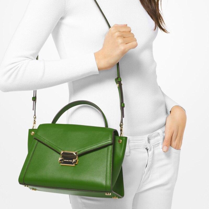 51073b2a1a25 FSO- Michael kors Official MK Women shoulder Bag Fashion Women Handbags  Whitney Medium Leather Satchel