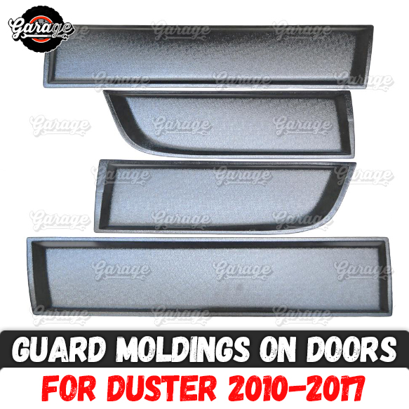 Guard moldings for Renault Dacia Duster 2010 2017 on doors ABS plastic pads protective plates scratches