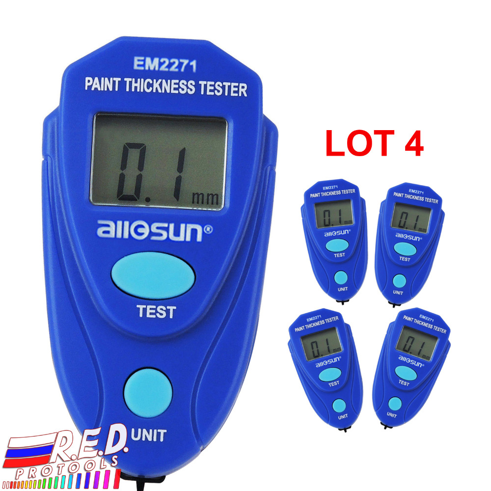 купить EM2271_lot4 Car Painting Paint Thickness Tester Meter 0~2.0mm Mini Digital Coating Thickness Gauge Enamel Plastic Epoxy по цене 4508.23 рублей