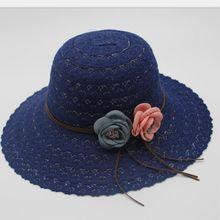 6b6d70c0caf00 Seioum Chapéus de Verão para As Mulheres Mulheres de Design de Moda Praia  Rendas Chapéu de Sol Dobrável Chapéu de Palha de Abas .