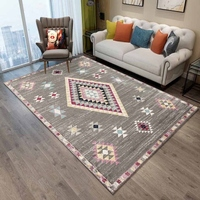 Else Gray Ethnic Authentic Persian Kilim Design 3d Print Non Slip Microfiber Living Room Decorative Modern Washable Area Rug Mat