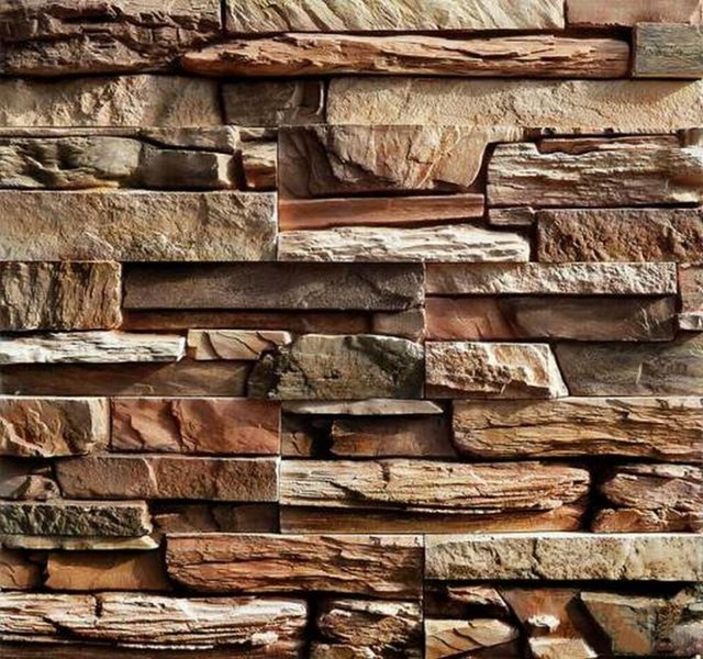 Set of 2 Plastic Molds for Concrete NEW SLATE Plaster Garden House Wall Stone Tiles Stone Mold Cement Bricks Maker Mould