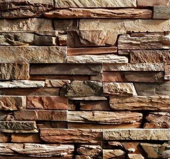 Zestaw 2 plastikowe formy do betonu nowy łupek tynk ogród dom płytki kamienne na ścianę forma do kamieni cegły z cementu Maker mold tanie i dobre opinie Antique Retro nostalgia stare meble Slate#4 Ogród zestaw Z tworzywa sztucznego Meble ogrodowe