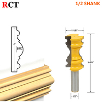 1pc Large Elaborate Chair Rail Molding Router Bit 1 2 Shank Line Knife Tenon Cutter For