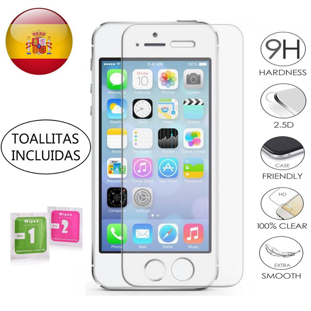 Tempered Glass LCD Cover Screen Protector Vidrio 9H For Apple IPhone 5 5G 5S 5C