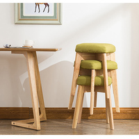 dinner chair fabrics and wood leg shoe stool seater portable living room furniture children adult cloth art ottoman
