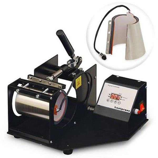 Самый дешевый комбо 17 унций КОНУС 11 унций круглый горизонтальный цифровой ручной кофе чашка отопление передачи печати кружка машина NO. MP160