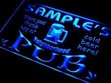 ПГ-ТМ Имя персонализированные пользовательские neighborhood Pub Бар Пивной неоновый с включения/выключения 7 цветов 4 Размеры