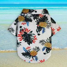 100% Cotton Dog Hawaiian Shirt Chihuahua Clothes XXS Korean Pineapple Printed Beach Summer Miniature Pinscher Clothes E miniature pinscher head made in u k artistic style dog brooch collection 22ct gold plated