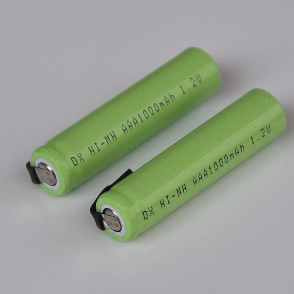 2-5PCS Ni-Mh 1.2V AAA rechargeable battery cell 1000mah with welding tabs for Philips Braun electric shaver razor toothbrush image
