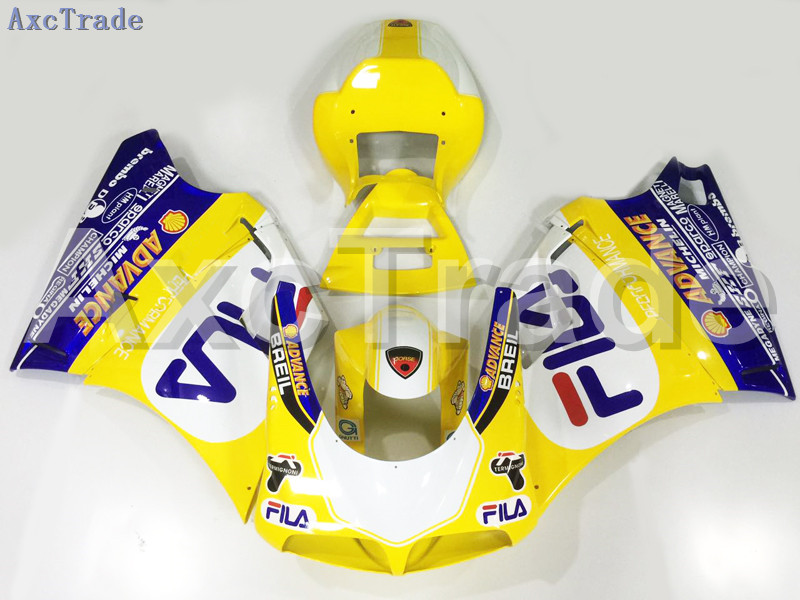 Motorcycle Fairings Kits For Ducati 748 916 996 998 1996 2002 96 02 ABS Injection Fairing Bodywork Kit Yellow Blue A133