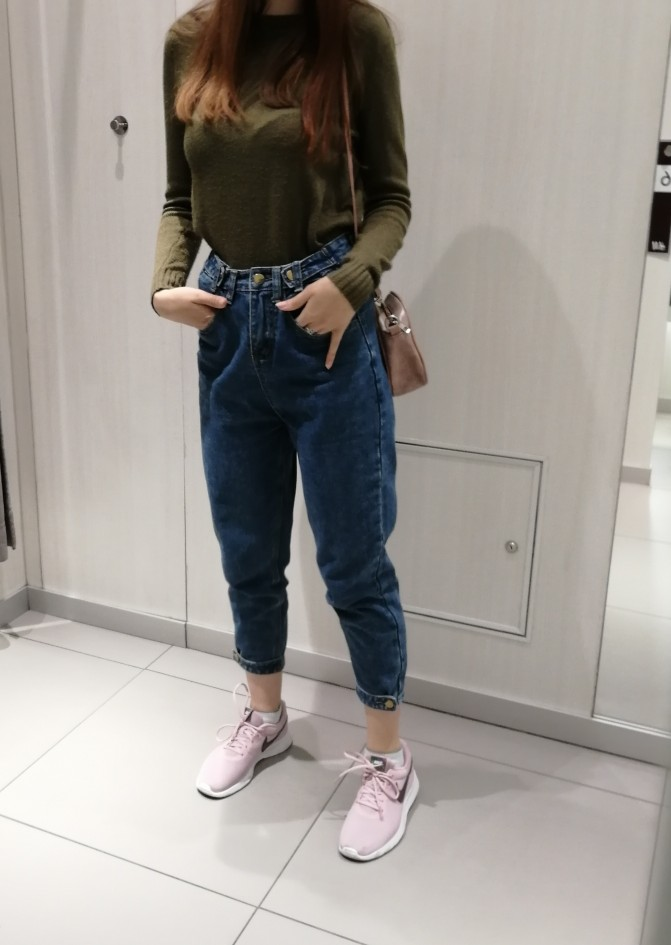 Jeans Vintage High Wist Jeans Women Spring Summer Denim Harem Pants Loose Casual Trousers Mom Jeans photo review