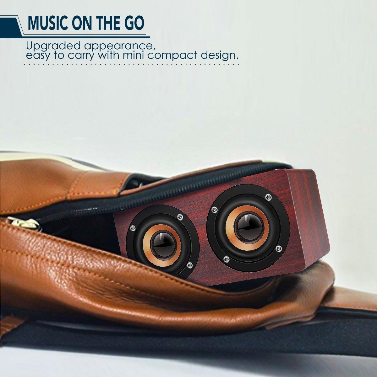 HOT-Retro Wooden Bluetooth Speaker HIFI Wireless Dual Loudspeakers 3D Surround Speaker 6