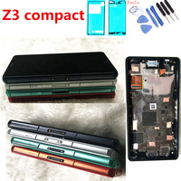 4.6''LCD For SONY Xperia Z3 Compact Display screen For SONY Xperia Z3 Compact LCD Touch Screen with Frame Z3 Mini D5803 D5833